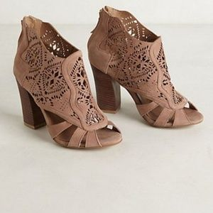 Anthro Mirelle Lacecut Booties